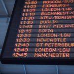 空港の時刻表